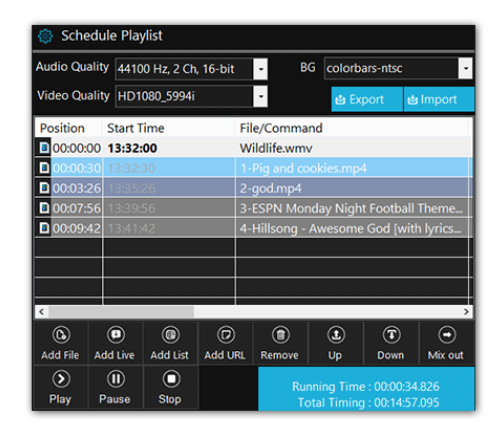 Playout 4